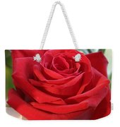 Red Rose With Garden Background  Weekender Tote Bag