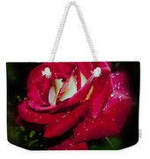 Red Rose With Water Drops Weekender Tote Bag