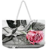 Red Rosebud Weekender Tote Bag