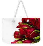 Red Roses Weekender Tote Bag by Anne Gilbert