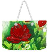 Red Roses From The Garden Weekender Tote Bag