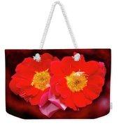 Red Roses Heart Weekender Tote Bag