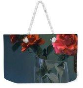 Red Roses In A Vase Weekender Tote Bag