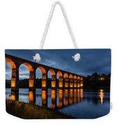 Red Royal Border Bridge Weekender Tote Bag