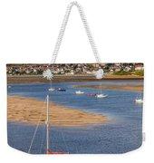 Red Sail Boat Weekender Tote Bag