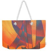 Red Sails In The Sunset Weekender Tote Bag by Tracey Harrington-Simpson