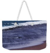 Red Sand Beach Abstract Weekender Tote Bag