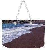 Red Sand Beach Weekender Tote Bag
