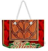 Red Satin Christmas Weekender Tote Bag