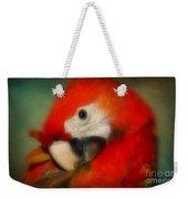 Red Scarlet   Macaw Parrot Sammy Weekender Tote Bag