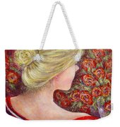 Red Scented Roses Weekender Tote Bag