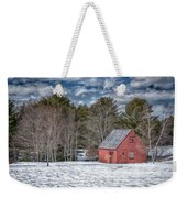 Red Shed In Maine Weekender Tote Bag by Guy Whiteley