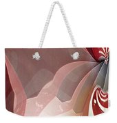 Red Sheer Weekender Tote Bag
