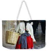 Red Skirted Woman Of Cuenca Weekender Tote Bag