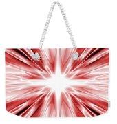 Red Silk Star Weekender Tote Bag