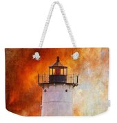 Red Sky At Morning - Nubble Lighthouse Weekender Tote Bag