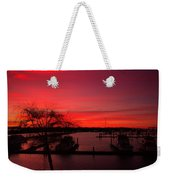 Red Sky In The Morning Two Weekender Tote Bag