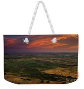 Red Sky Over The Palouse Weekender Tote Bag