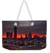Red Sky Sunrise Midtown Atlanta Weekender Tote Bag