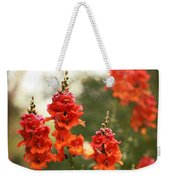 Red Snapdragons Weekender Tote Bag