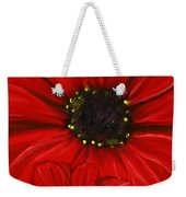 Red Spectacular- Red Gerbera Daisy Painting Weekender Tote Bag