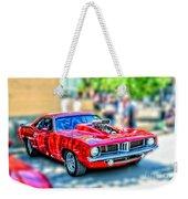 Red Sport Car Weekender Tote Bag