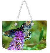 Red Spotted Purple Butterfly Photopainting Weekender Tote Bag