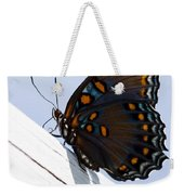 Red Spotted Purple Weekender Tote Bag