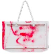 Red Spray Paint Weekender Tote Bag