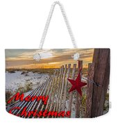 Red Star On Fence Weekender Tote Bag