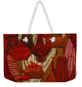 Red Still Life Weekender Tote Bag