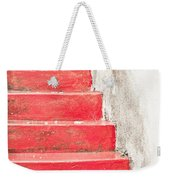 Red Stone Steps Weekender Tote Bag
