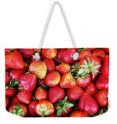 Red Strawberries Weekender Tote Bag
