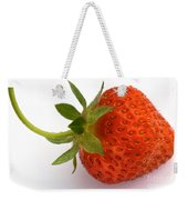Red Strawberry With Stem Weekender Tote Bag