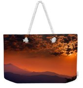 Red Sumer Sunset Weekender Tote Bag