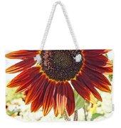 Red Sunflower Glow Weekender Tote Bag