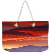 Red Sunrise Over National Park Sierra Nevada Weekender Tote Bag