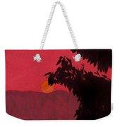Red - Sunset Weekender Tote Bag