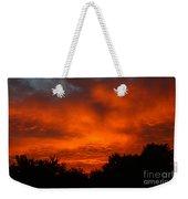 Red Sunset Weekender Tote Bag