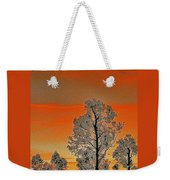 Red Sunset With Trees Weekender Tote Bag