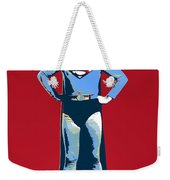 Red Superman Weekender Tote Bag