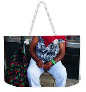Red Sweater Weekender Tote Bag