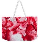 Red Swirls Background Weekender Tote Bag