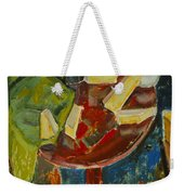 Red Table Top Still Life Weekender Tote Bag