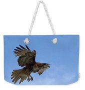 Red Tail Hawk Weekender Tote Bag by Bill Gallagher