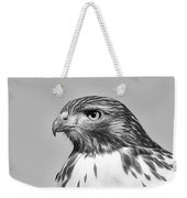 Red Tail Hawk Youth Black And White Weekender Tote Bag