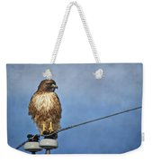 Red Tail On Watch Weekender Tote Bag