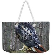 Red Tailed Hawk Perched On A Rock Weekender Tote Bag
