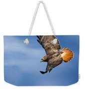 Red-tailed Hawk Soaring Square Weekender Tote Bag