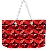 Red Textured Wall Weekender Tote Bag